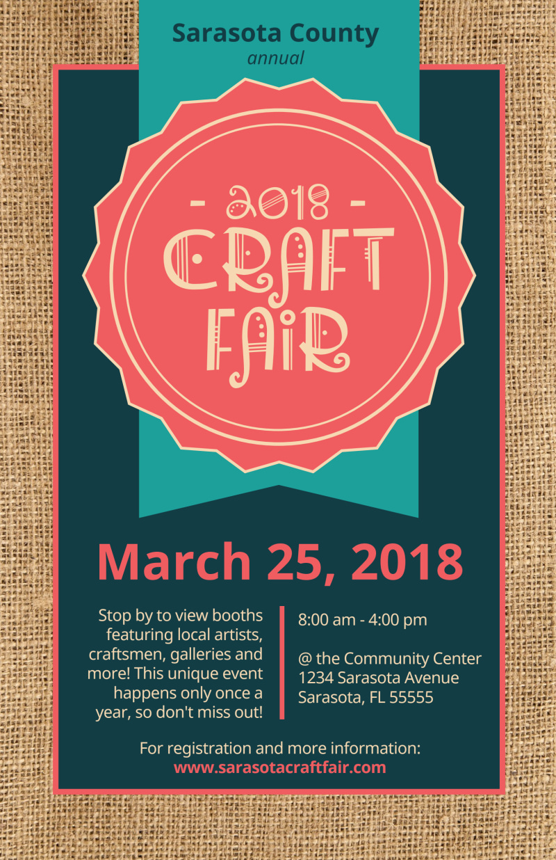 Awesome Craft Fair Poster Template Preview 2