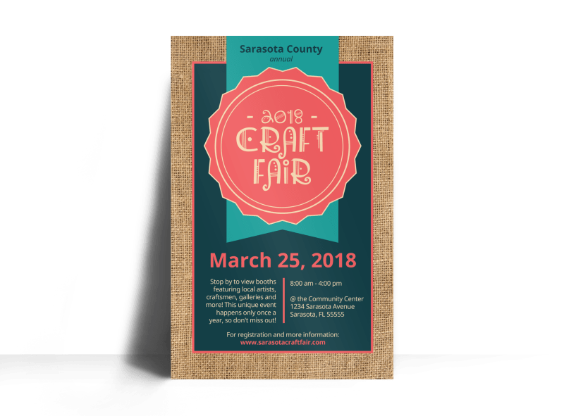 Awesome Craft Fair Poster Template Preview 1