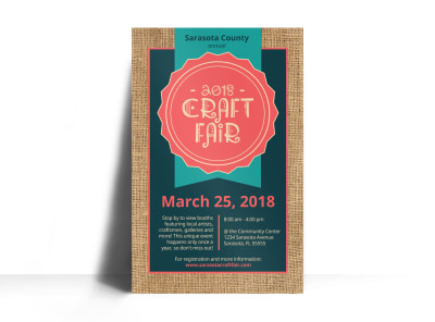 Awesome Craft Fair Poster Template