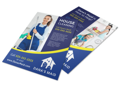 Helpful House Cleaning Flyer Template preview