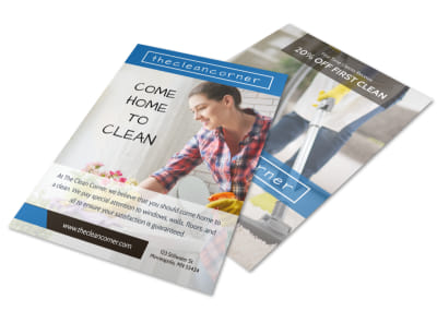 Home Cleaning Service Flyer Template preview