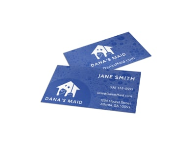 Bubbly House Cleaning Business Card Template preview