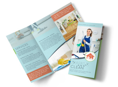 Sparkle Clean Tri-Fold Brochure Template