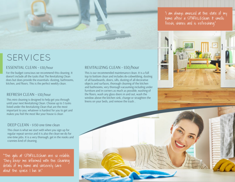 Sparkle Clean Tri-Fold Brochure Template Preview 3