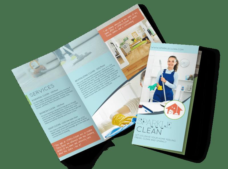 Sparkle Clean Tri-Fold Brochure Template Preview 1