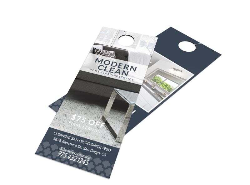 Modern House Cleaning Door Hanger Template Preview 4