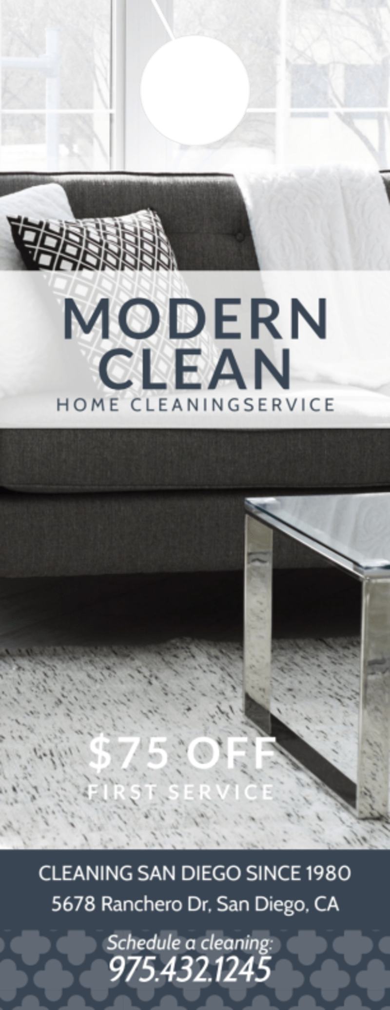 Modern House Cleaning Door Hanger Template Preview 2