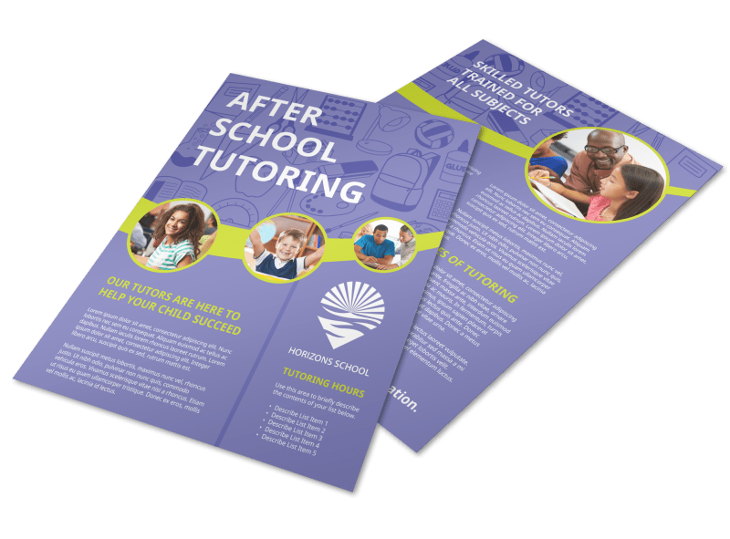 After School Tutoring Flyer Template Preview 1