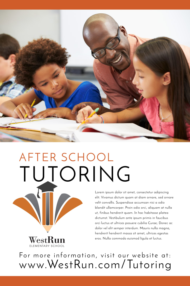 After School Tutoring Poster Template Preview 2