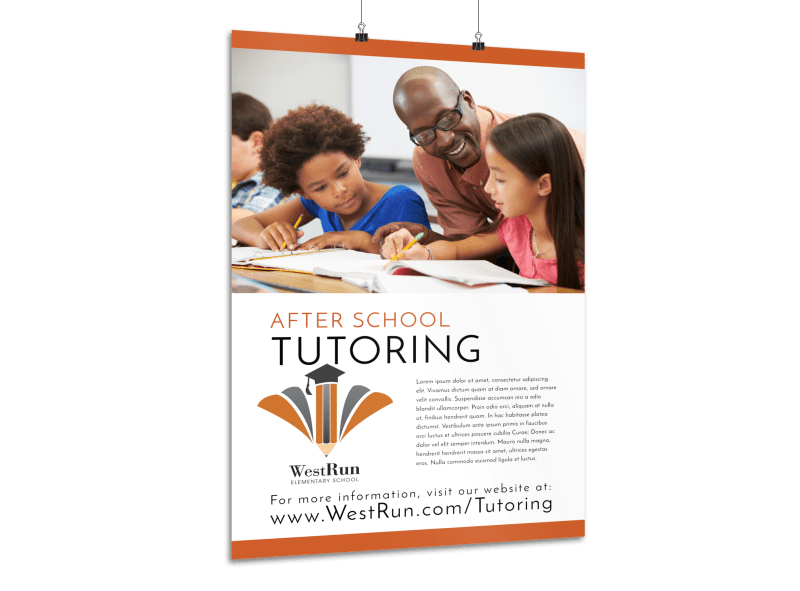 After School Tutoring Poster Template Preview 1