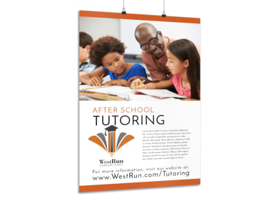 After School Tutoring Poster Template preview