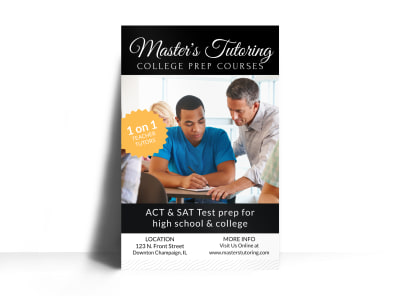 College Prep Tutoring Poster Template preview