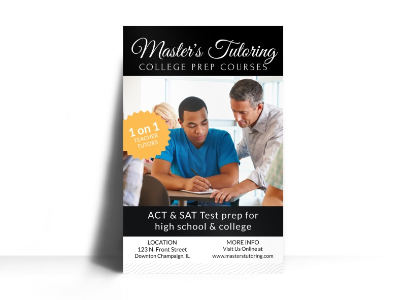 College Prep Tutoring Poster Template