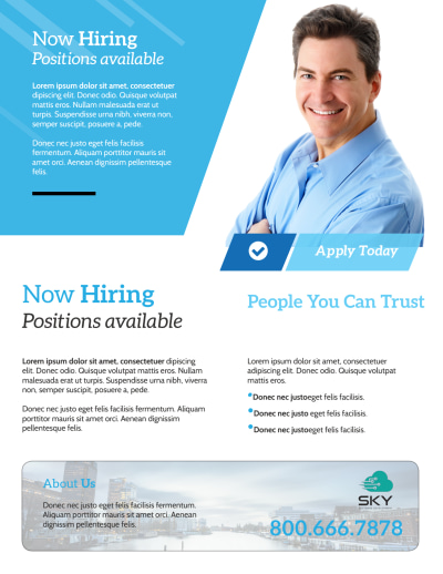 Professional Now Hiring Flyer Template Preview 2