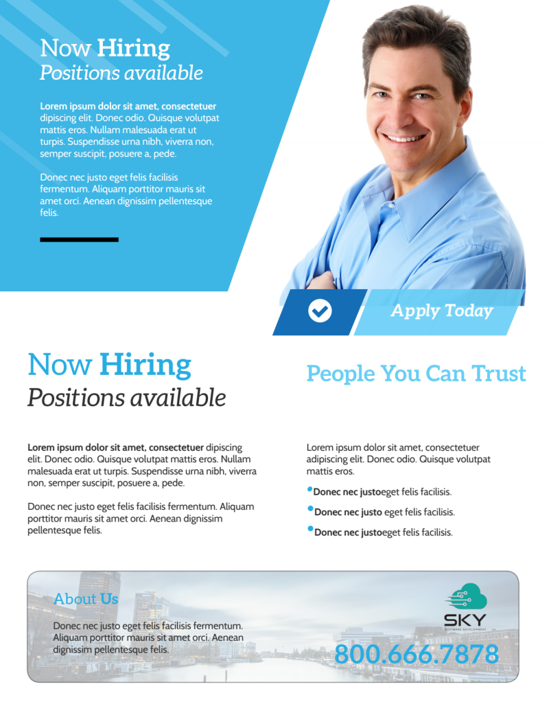 Professional Now Hiring Flyer Template Preview 3