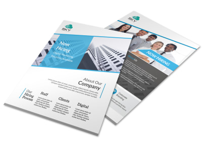 Corporate Now Hiring Flyer Template