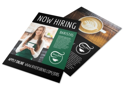 Now Hiring Baristas Flyer Template preview
