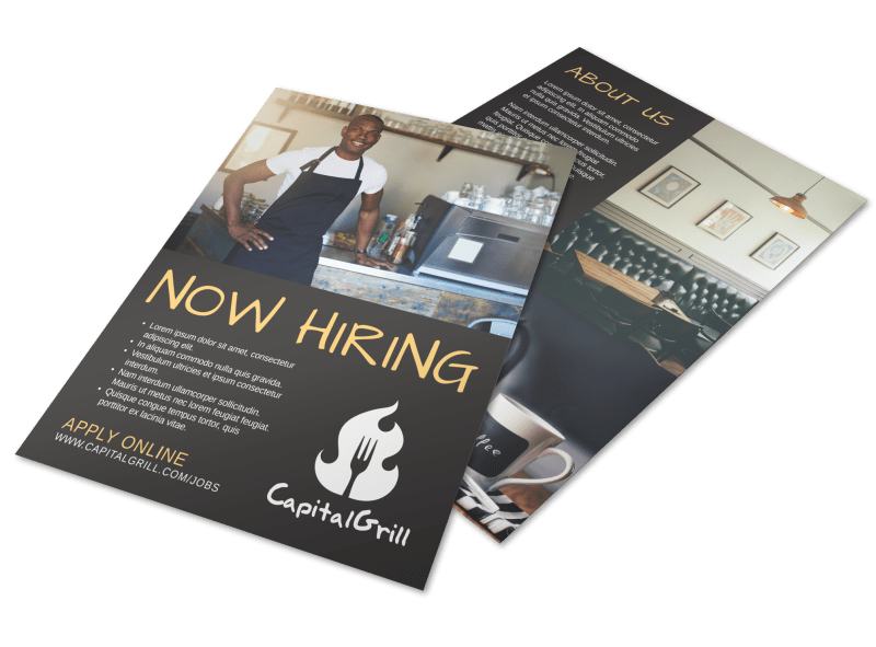 Awesome Now Hiring Flyer Template Preview 1