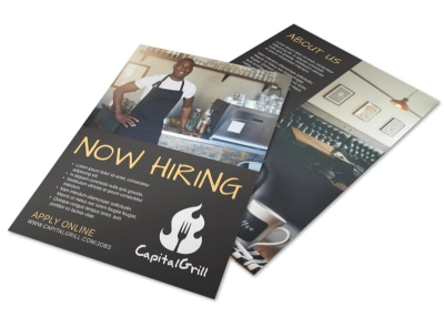 Awesome Now Hiring Flyer Template preview