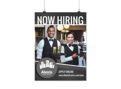 Now Hiring Poster Template Preview 1