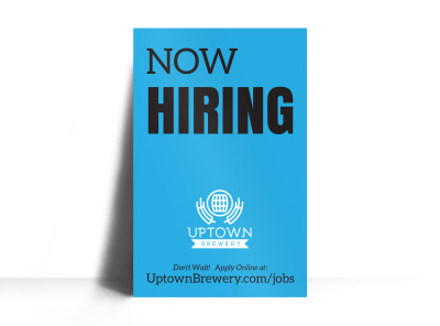 Now Hiring Poster Template axpkbtv403 preview