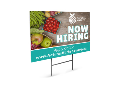 Now Hiring Yard Sign Template arblkg3h1p preview