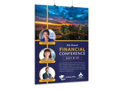 Financial Conference Poster Template preview
