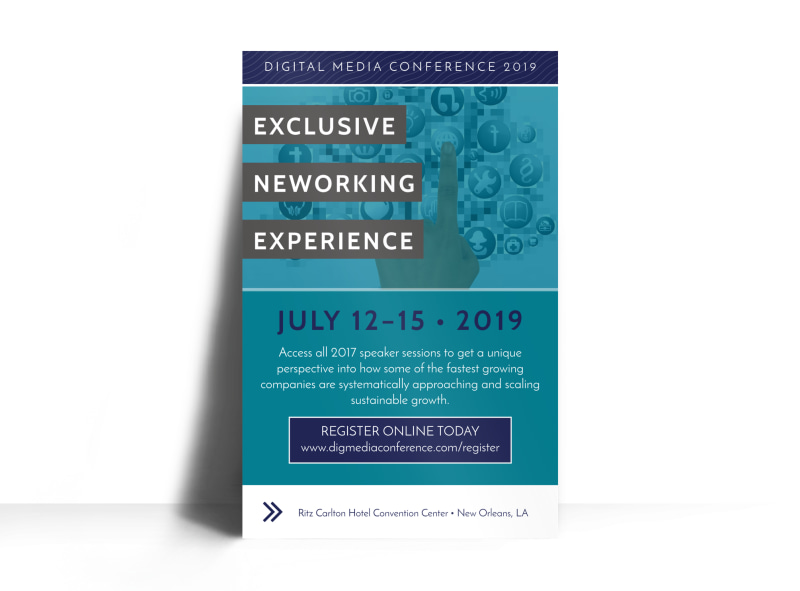 networking conference poster template mycreativeshop