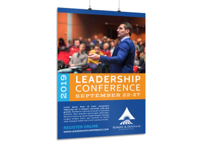 Leadership Conference Poster Template preview
