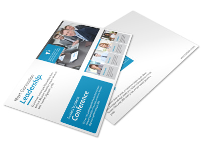 Conference Invitation Postcard Template