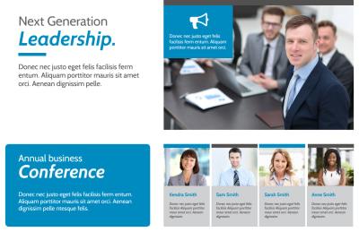 Conference Invitation Postcard Template Preview 1