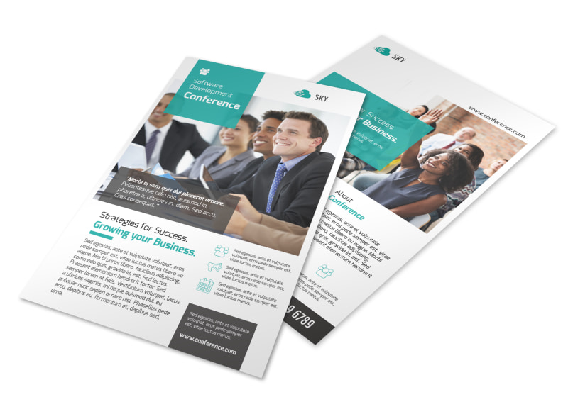 Conference Invitation Flyer Template