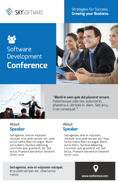 Business Conference Invitation Flyer Template Preview 1