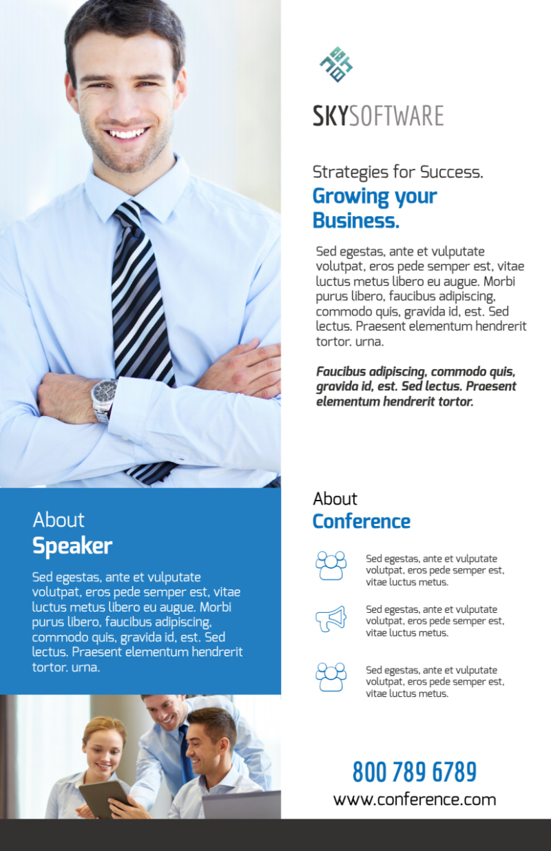 Business Conference Invitation Flyer Template