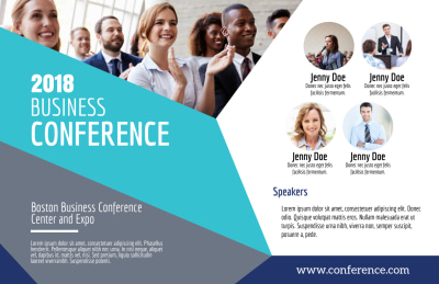 Business Conference Invitation Postcard Template Preview 1