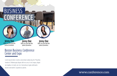 Business Conference Invitation Postcard Template Preview 2