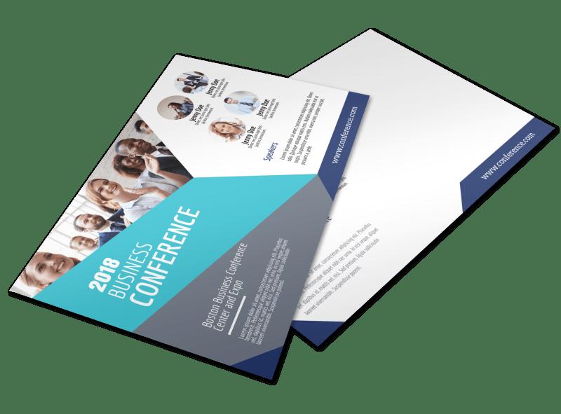 Business Conference Invitation Postcard Template