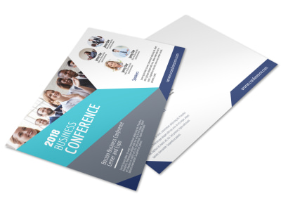 Business Conference Invitation Postcard Template