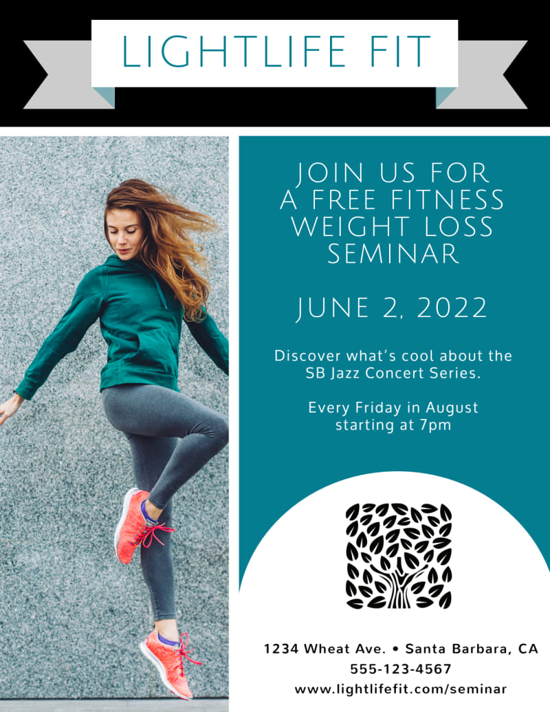Weight Loss Fitness Plan Flyer Template Preview 2
