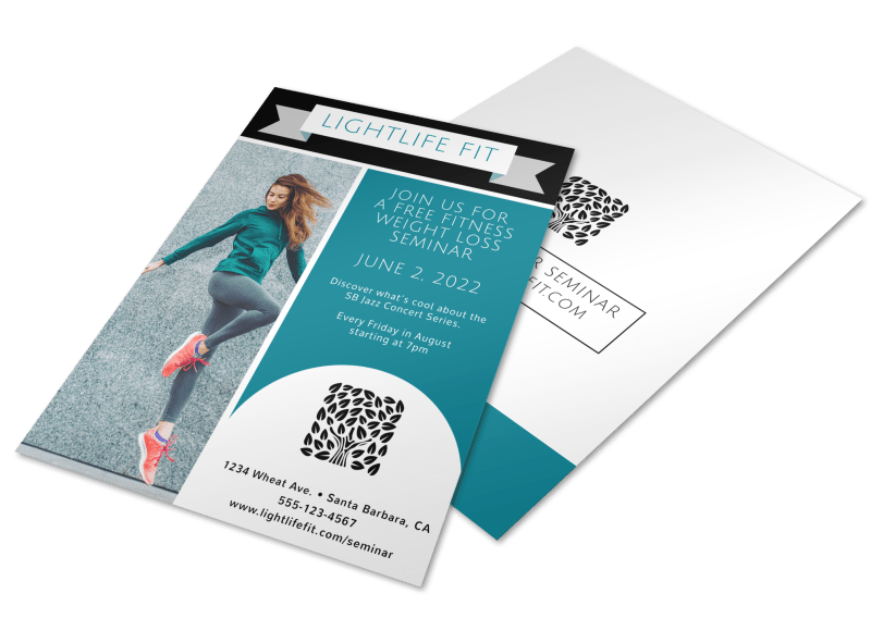Weight Loss Fitness Plan Flyer Template Preview 1
