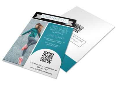 Weight Loss Fitness Plan Flyer Template preview