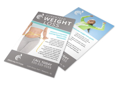 Guaranteed Weight Loss Flyer Template preview
