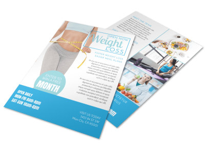 Now Open Weight Loss Flyer Template preview
