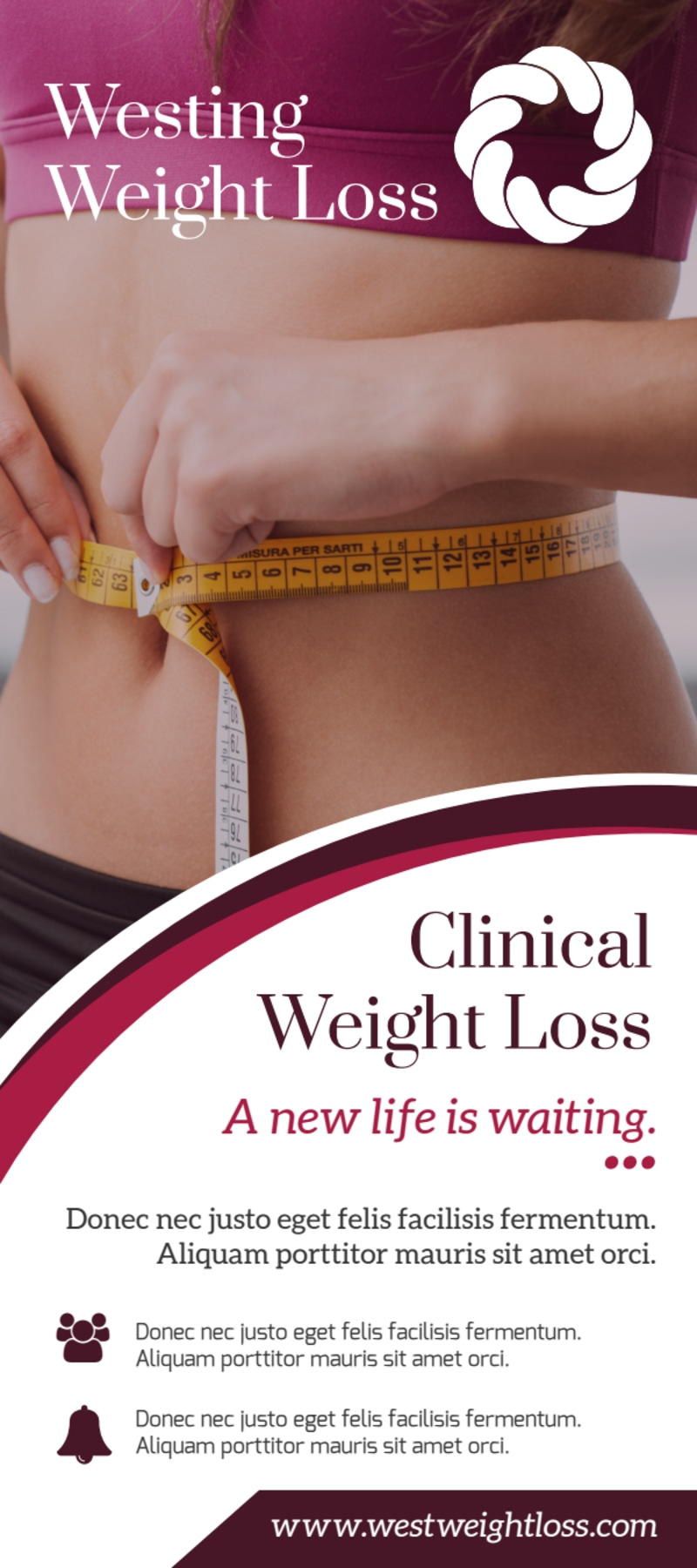 Clinical Weight Loss Flyer Template Preview 2