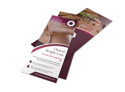 Clinical Weight Loss Flyer Template preview
