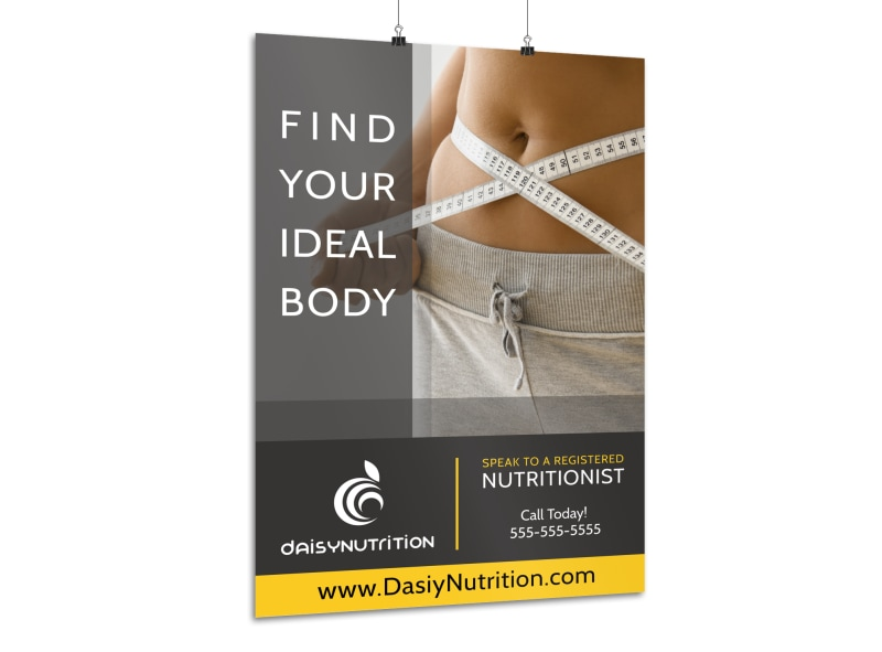 Weight Loss Nutritionist Poster Template