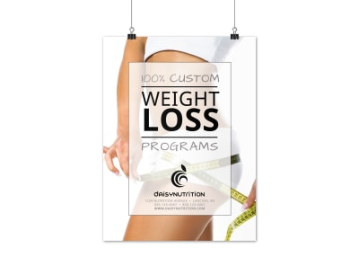 Weight Loss Program Poster Template preview