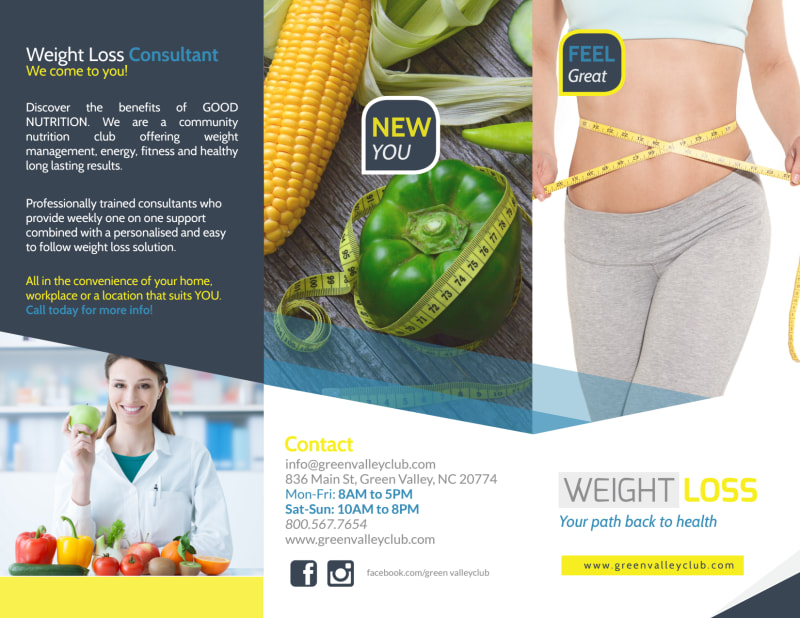 Weight Loss Brochures Tri-Fold Brochure Template Preview 2