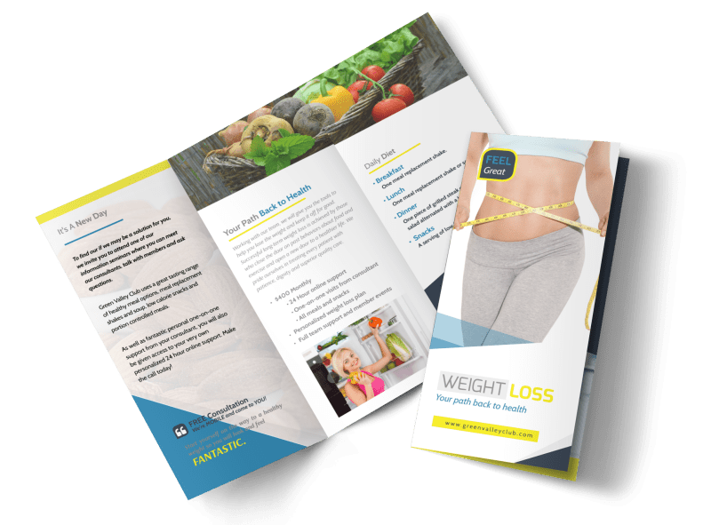 Weight Loss Brochures Tri-Fold Brochure Template Preview 1