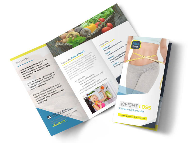 Weight Loss Brochures Tri-Fold Brochure Template